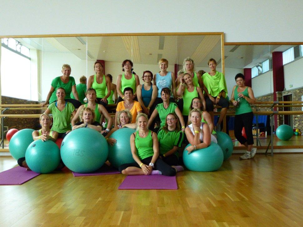 Gruppe Fitness und Aerobic